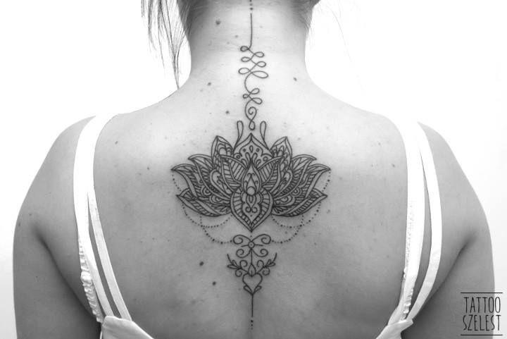 #flower #lotus #mehendi #unalome #blackwork #tattoo #szelest