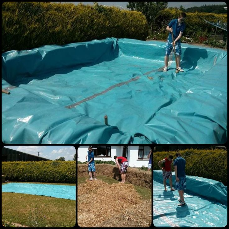 17 best ideas about hay bale pool on pinterest redneck - Redneck swimming pool with hay bales ...