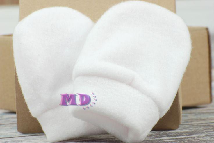 Rękawiczki polarowe białe