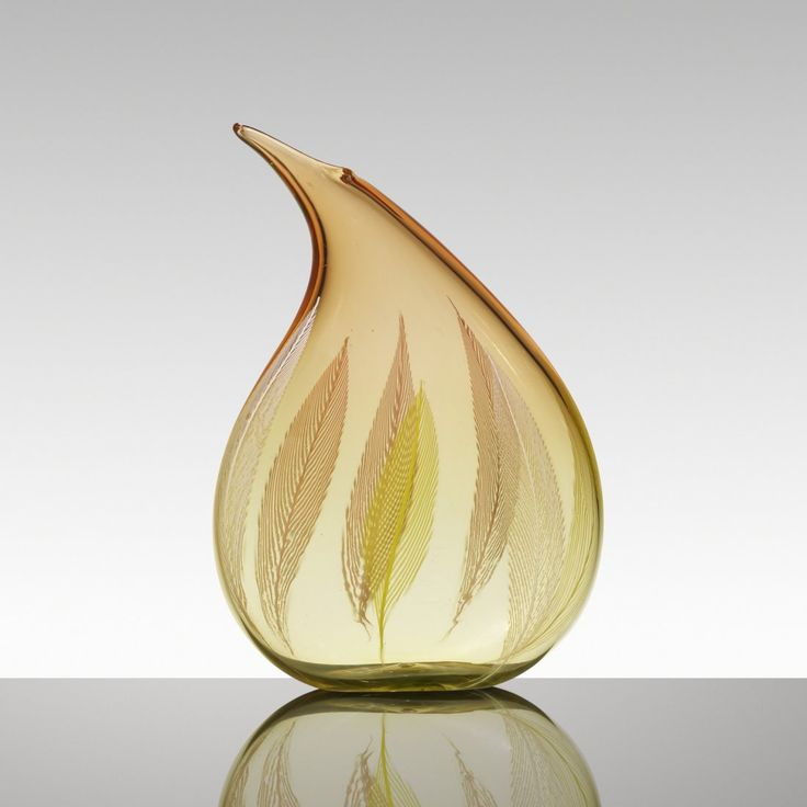 Lot: Archimede Seguso, A Piume vase, Lot Number: 0168, Starting Bid: $24,000, Auctioneer: Wright, Auction: Important Italian Glass: Primavera Collection, Date: November 22nd, 2016 UTC
