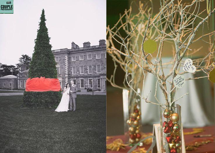 Christmas wedding at Carton House www.couple.ie