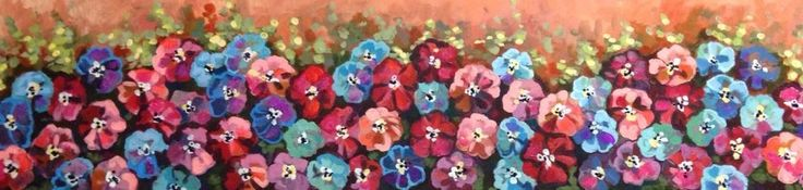 Full Blossum Flowers In Field Painting By artist joJo spook