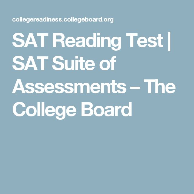 SAT Reading Test | SAT Suite of Assessments – The College Board