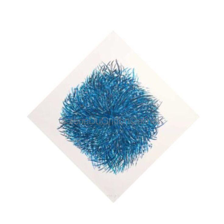 ➕ MARIA BONOMI ( née en 1935)  La HYDRE, 2000 Xylogravure/Xylographie, 175 x 175 cm  Signée & annotée P/AP