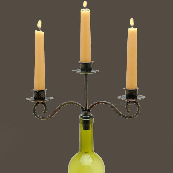 En om het design compleet te maken: een wijnkandelaar