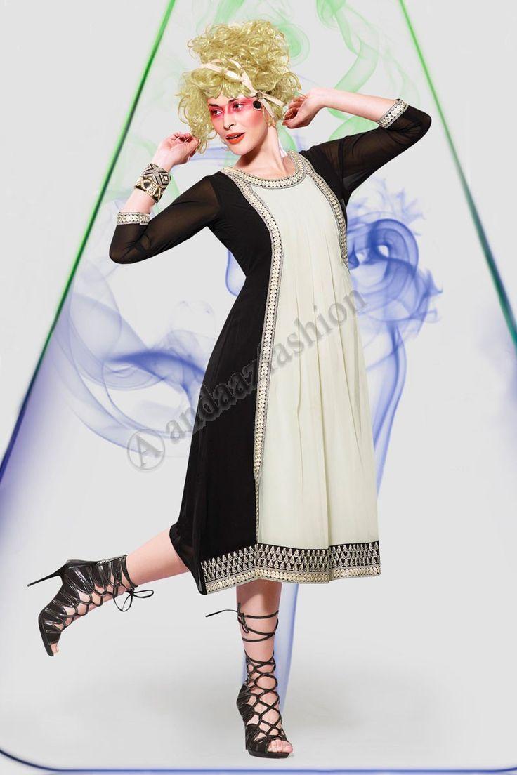 Black Cream Georgette Kurti Conception no- DMV12797 Prix- 44,15  Andaaz Fashion presente le nouveau concepteur de larrivee noir, creme Georgette Kurti. Agrementee de Resham brode. Cette conception est parfaite pour le Parti, Festival, Casual.  @http://www.andaazfashion.fr/womens/kurti-tunic/black-cream-georgette-kurti-dmv12797.html