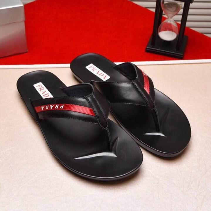 48e960f45 Prada Calfskin Thong Sandals