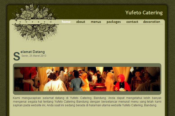 Web Design Portfolio for Yufeto Catering in Bandung Indonesia. Made with Static Website and SEO Friendly – ReeZh Design 2008 Website Project.