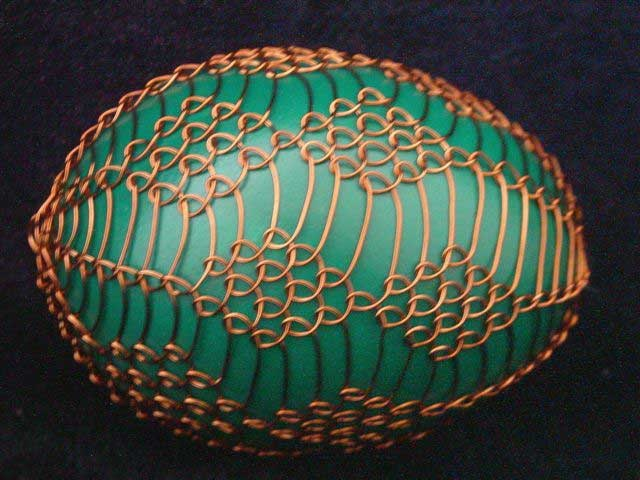 amazing wire-wrapped egg