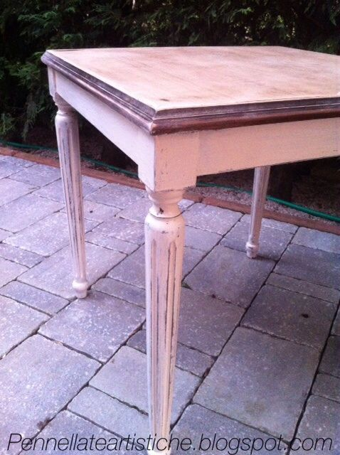 My rebuild shabby chic table.check on my blog pennellateartistiche.blogspot.com or my website doctorshabbychic.com