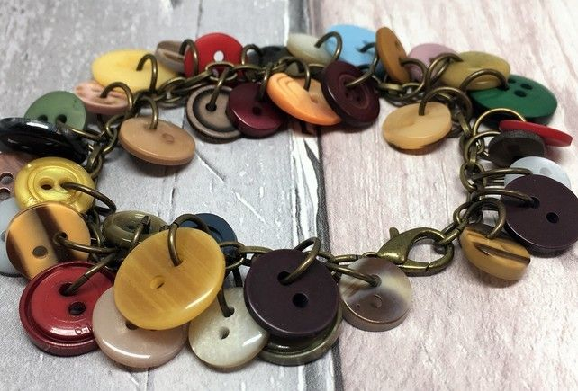 Vintage button bracelet £15.00