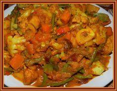 restovaná zelenina na indický způsob