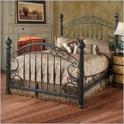 tuscan bedroom- love the bed frame