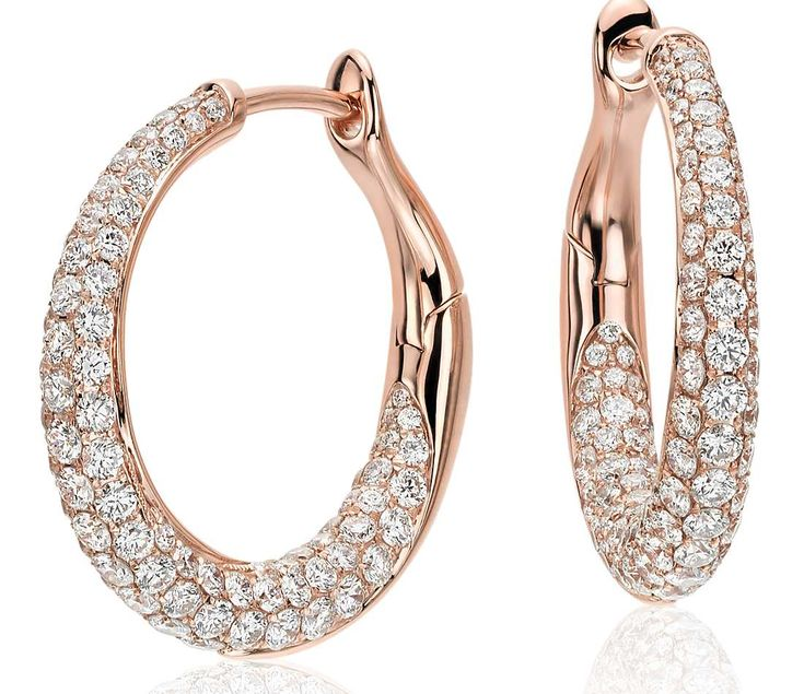 Best 25+ Diamond hoop earrings ideas on Pinterest