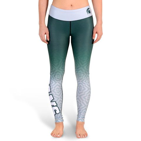 Michigan State Spartans Womens Official NCAA Gradient Print Leggings