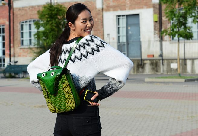 Liu Wen | Spring '14 Milan Fashion Week Street-Style Photos by Tommy Ton