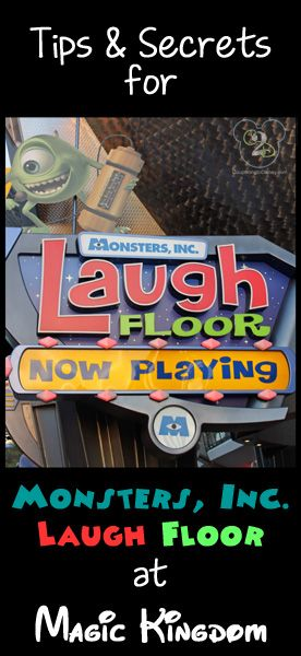 Everything you need to know about Monsters Inc Laugh Floor. Pin now and reference on your next Disney trip.
