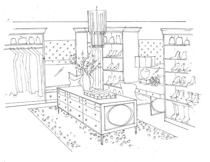 dream closet renderings. Rachel Parcell's closet