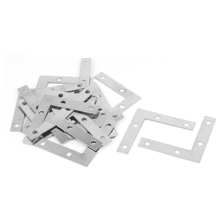 50Mmx50Mmx1Mm L Shape Angle Bracket Corner Brace Mending Plate 20Pcs
