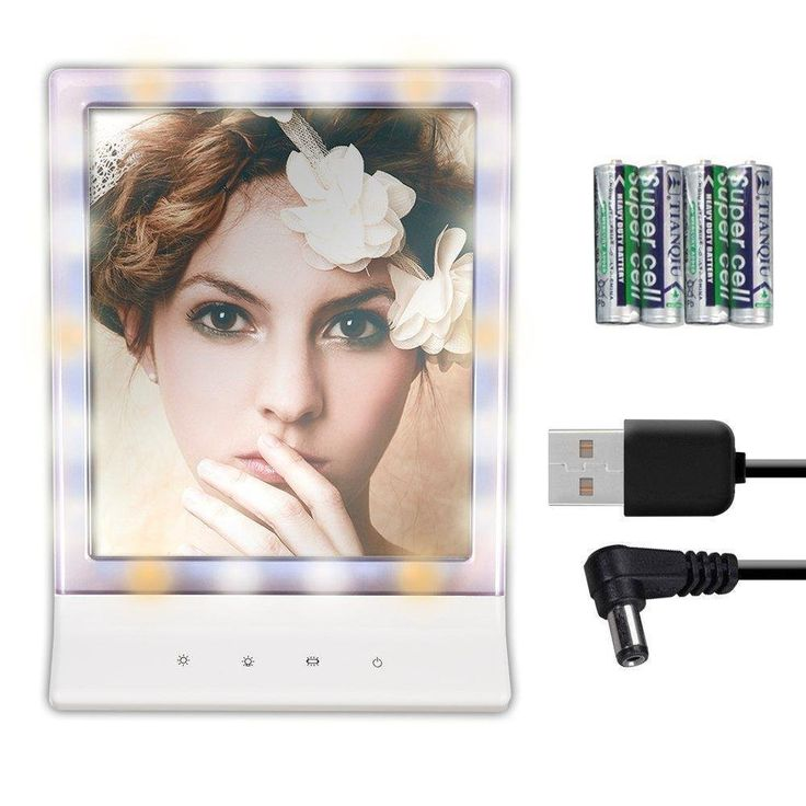 LED Lighted Makeup Mirror - Thosdt Vanity Mirror Led Cosmetic Mirror, Smart Touch Makeup Mirror with Light (18 LED) , Wall Mount Make Up Mirror. Built-in 18pcs adjustable LED lighted allow you to do your make-up in the dark or poorly lit areas.Supporting Usb cable charging without Batteries,Usb cable Included in this item so you can avoid the hassle of going to the store, save money on batteries. of course,Batteries also support(Not Included). Smart Touch Screen - Controlled by touch…