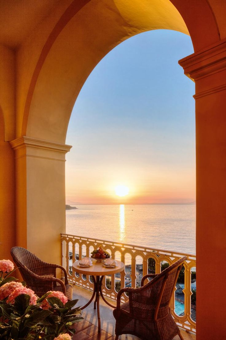 Sunset from the Vittoria Terrace, Sorrento, Italy.