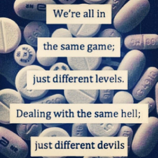We're all in the same game; just different levels. Dealing ...
