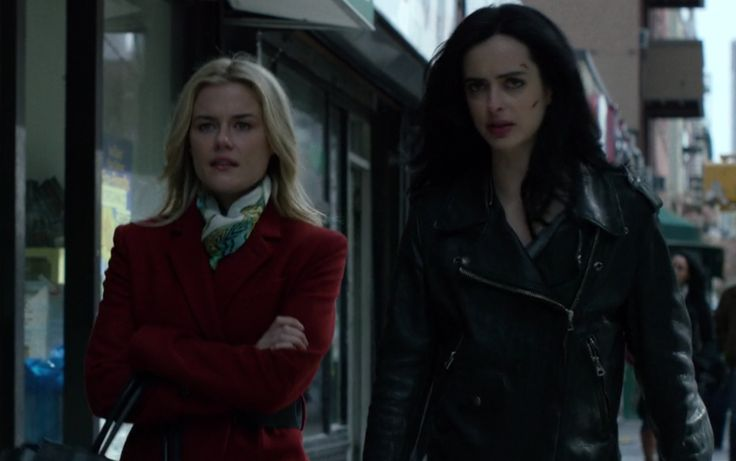 A new kind of hero: Netflix's Jessica Jones (Krysten Ritter, right) comes from the Marvel universe, but she may be kryptonite to the old ways of doing TV.
