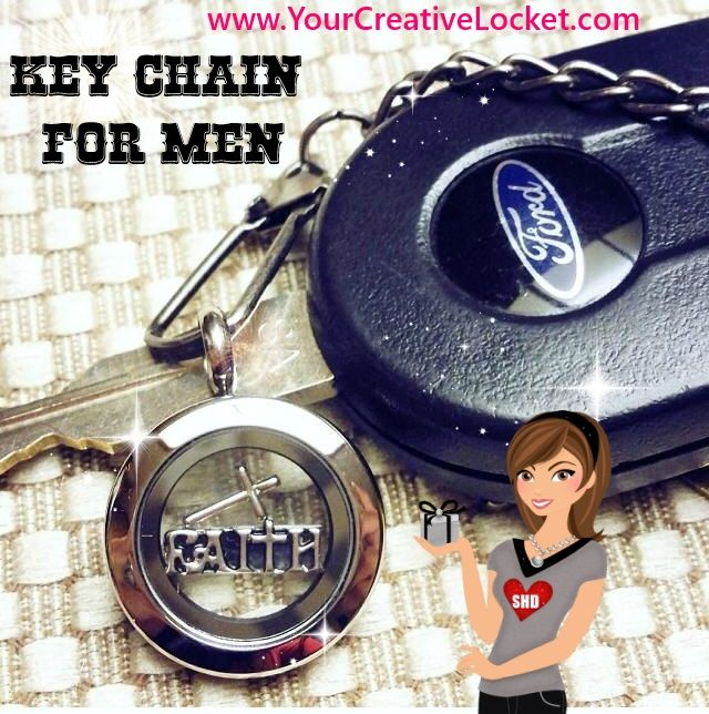 Turn a South Hill Designs locket into a Key Chain for the man in your life! Over 400 different charms to pick from to tell HIS story! Canadian and US orders accepted!  #yourcreativelocket  #keychain  #giftformen #southhilldesigns