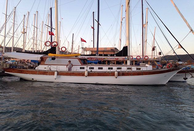 Mina , a gulet for rent, by Barbaros Yachting
