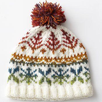 Bernat: Pattern Detail - Mosaic and Super Value - Fair Isle Hat (knit)