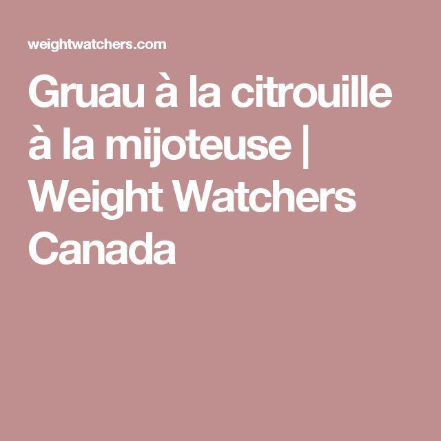 Gruau à la citrouille à la mijoteuse   Weight Watchers Canada