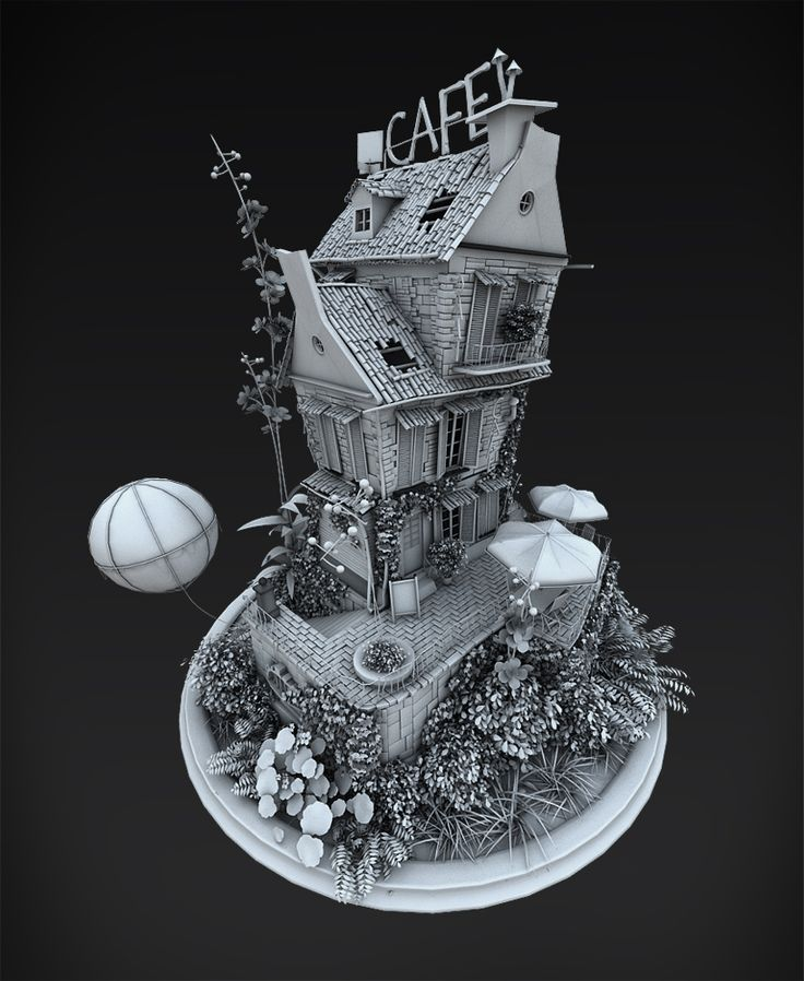 Cartoon house by Lukasz Michalczyk | Cartoon | 3D | CGSociety