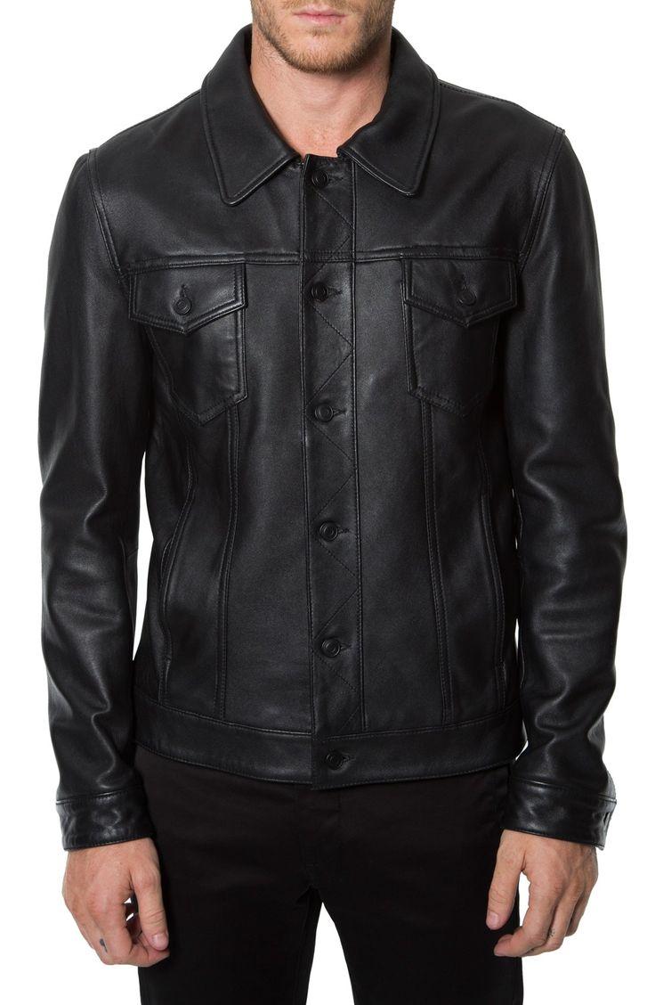 7 Diamonds 'Desperado' Leather Western Jacket