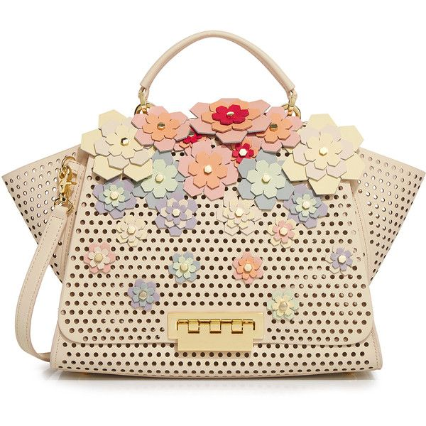 Zac Zac Posen Eartha Hex Floral Kit Soft Top Handle Bag 2 325