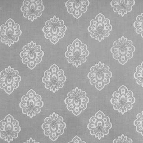 Regalido Extra Wide Acrylic Oilcloth In Grey The Motif Is 2 Cms Wide To  Give You