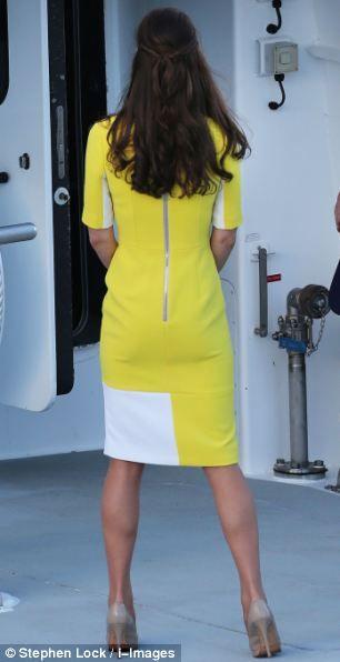 William failed to appreciate his wife's bright yellow £950 Roksanda Ilinic dress