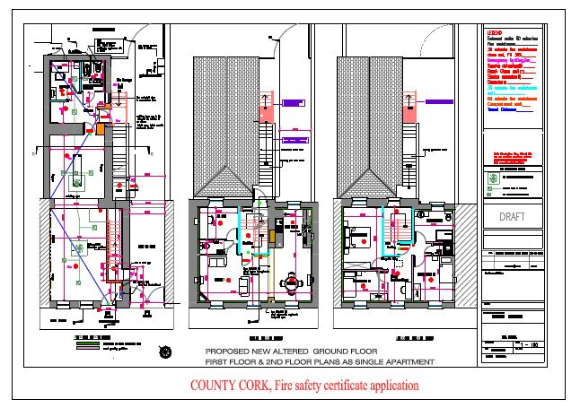 Detailed Image of CAD Drawing Safety of Apartment