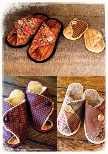 free pattern for fabric slippers | Pitter Patters | The Fabric Shopper