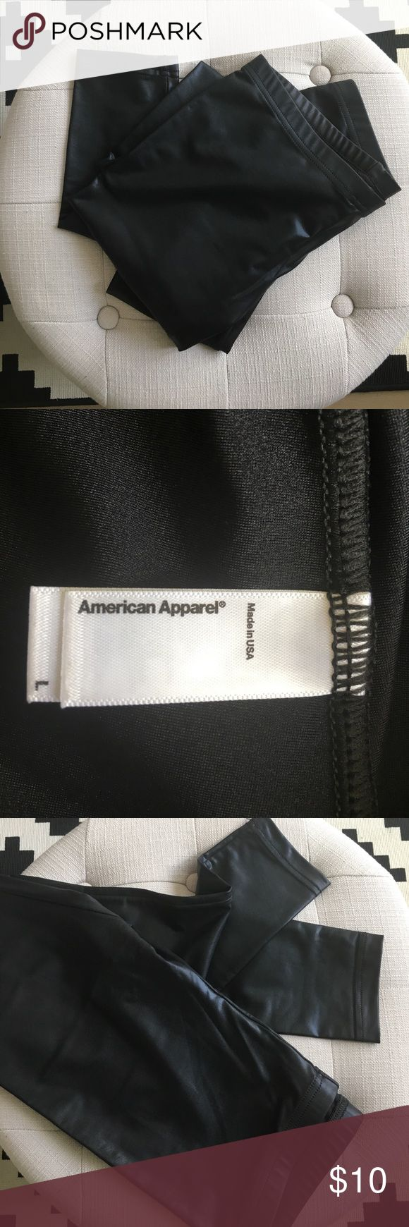 American Apparel faux leather leggings Super cool faux leather leggings from American Apparel. American Apparel Pants Leggings