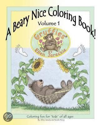 A Beary Nice Coloring Book Volume 1 Ellen C Jareckie 9781475127959