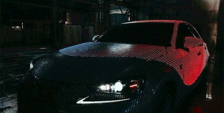 Der Lexus LIT IS: Ein Konzeptauto mit 42.000 LED-Lampen  Stell dir vor, du hast ein Auto, das komplett mit kleinen Glühbirnen bedeckt ist. Und die zucken im Rhythmus der Musik, die du dir gerade anhörst....