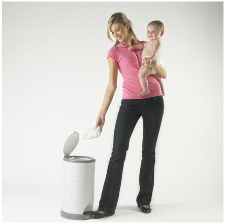 No Mess, No Smell.  Dispose your baby's nappy easily with this Nappy Disposal System.