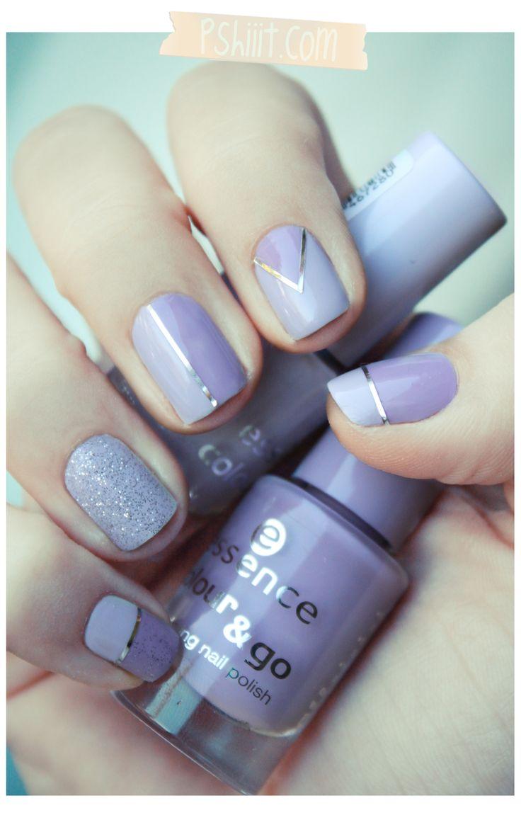 lavender nails: Nail Polish, Nailart, Nail Designs, Makeup, Nails, Beauty, Nail Art