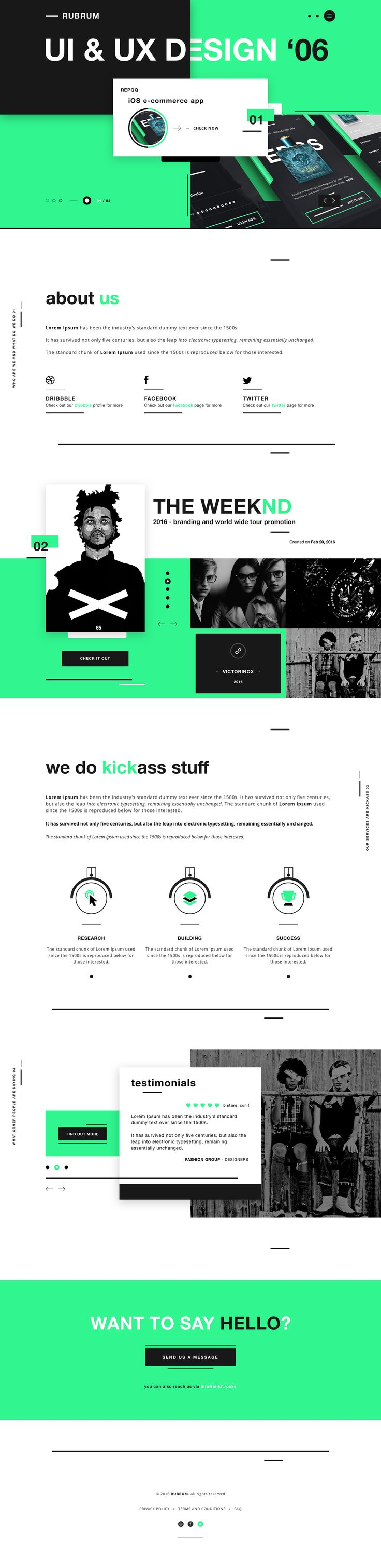 Rubrum website design ui agency dribbble robert berki