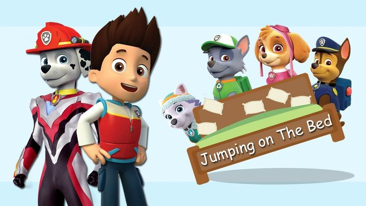 Paw Patrol Ultraman Ribut Jumping on The Bed Song Five Little Monkeys Ju...