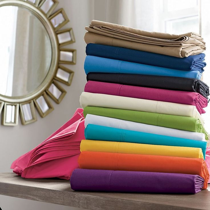 1500TC 1PC Luxurious Fitted Sheet Solid 100% Egyptian Cotton Choose Color & Size #Scala #Solid