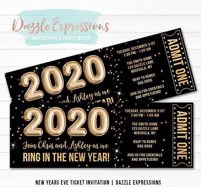 Hosting A New Years Eve Party Soon Invite Your Guests In Style With This Custom And Affordable Black And Gold F Gold Foil Balloons New Years Eve Foil Balloons