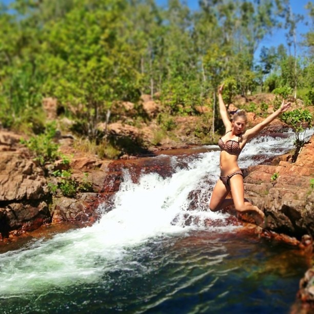 Cooling off at Buley Rockhole in Litchield National Park #ntaustralia #gadv