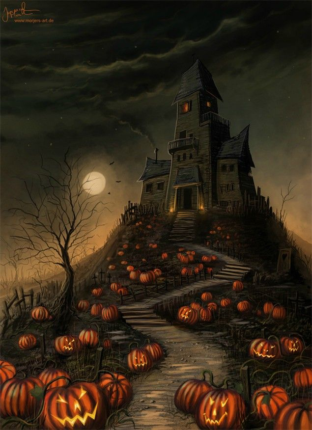 Love!  This is sooooo cool!!!: Halloween Haunted House, Halloween House, Halloween Pumpkin, Haunted Mansions, Scary Halloween, Halloween Pictures, Halloween Movie, Halloween Art, Happy Halloween