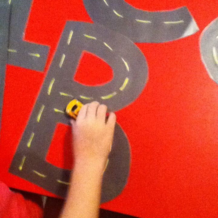 Alphabet letter roads to prepare for writing.  Great for boys!!!!